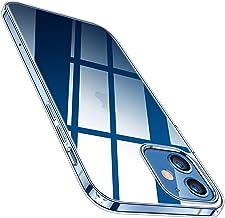 TORRAS Crystal Clear Hülle Kompatibel mit iPhone 12 Pro und für iPhone 12 Vergilbungsfrei Durchsichtig Dünn Flexibles Silikon Slim Griff Schutzhülle Transparent