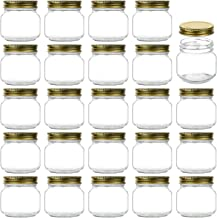 Encheng 8 oz Glass Jars With Lids,Ball Regular Mouth Mason Jars For Storage,Canning Jars For Caviar,Herb,Jelly,Jams,Honey,...