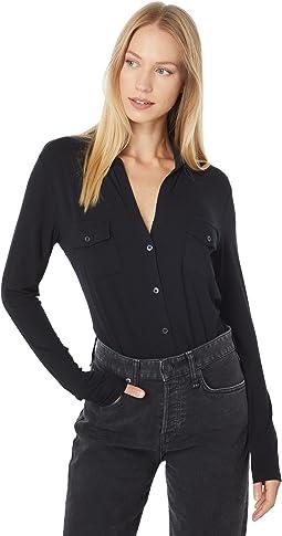 Soft Touch Long Sleeve Button-Down Shirt
