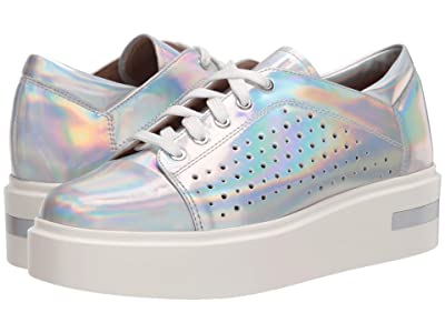 LINEA Paolo Kendra Sneaker (Silver Iridescent Metallic Leather) Women