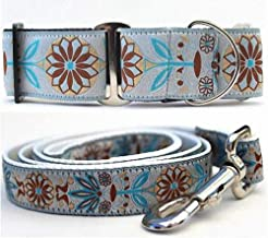 """product image for Diva-Dog 'Boho Morocco' 2"""" Extra Wide Chainless Martingale Dog Collar, Matching Leash Available- MD, LG, XL"""