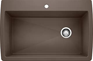 BLANCO 440192 Diamond Super Single Dual Deck-Cafe Sink, 32.5