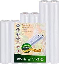 KitchenGynti Vacío-Rollos para almacenaje-Alimentos Sous-Vide Cocina aprobación - de la FDA y BPA Free 6rolls 15x300cm y 20x300cm y 28x300cm