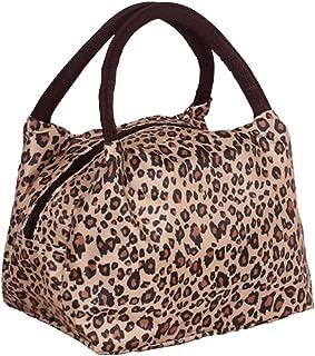 Sugawin Fashion Leisure Lunch Bag Light Portable Insulation Pattern Zipper Handbag For Women Ladies Girls (Soil Leopard)