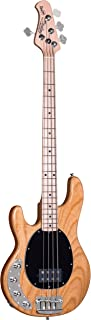 Sterling By MusicMan 4 String Sterling by Music Man Ray34 StingRay Bass, Left-Handed, Natural, Ray34LH-NT)