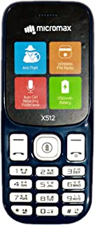 Micromax X512 Anniversary Edition 1750 mAh, Torch Blink on Call, Auto Call Recording Phone (Blue)