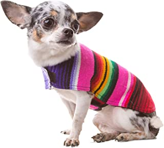 WAEEUSD Pet Dog Coats Handmade Dog Poncho from Mexican Serape Blanket Small Dog Clothes Costume Sweater Vest