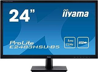 マウスコンピューター iiyama モニター ディスプレイ E2483HSU-B5(24型/TN非光沢/1ms/1920x1080/USBハブ/DP,HDMI,D-Sub)
