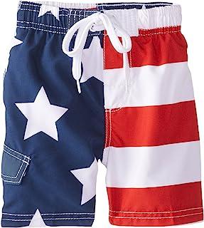 Boys' American Flag Swim Trunk