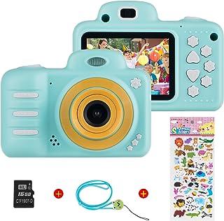 Digitale kindercamera voor meisjes, Vannico oplaadbare HD-videocamera voor kinderen van 3-10 jaar, Mini-selfiecamera voor ...