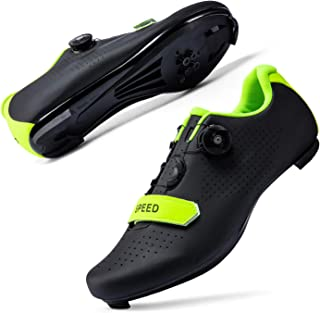 JIASUQI Cycling Shoes for Women Men Road SPD Bike Cycling Shoes Spin Shoestring with Compatible SPD Look Delta Cycle Ridin...