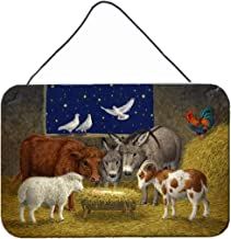 Caroline's Treasures Animals at Crib Nativity Christmas Scene Wall or Door Hanging Prints ASA2205DS812, ASA2205DS812, Mult...