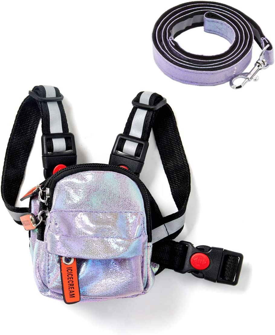 5% OFF icicecream Max 81% OFF Dog Backpack Harness with Adj Leash for Dogs