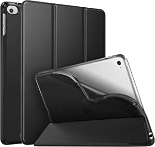MoKo Case Fit New iPad Mini 5 2019 (5th Generation 7.9 inch), Slim Smart Shell Stand Folio Case with Soft TPU Translucent Frosted Back Cover, Auto Wake/Sleep - Black