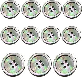 11 Piece Smoke Mother of Pearl Blazer & Suits Button Set - Smoke Grey - for Blazer, Sport Coat, Uniform, Jacket (Smoke Grey)