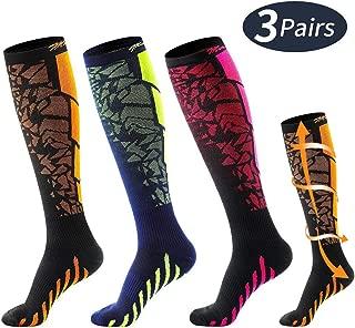 Macchiato Compression Socks for Women & Men 20-30mmhg Knee High for Medical,Running,Pregnancy,Flight Travel,Nursing 1/3 Pairs