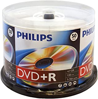 Philips Dr4s6b50f/17 4.7GB 16x DVD+Rs, 50-ct Spindle