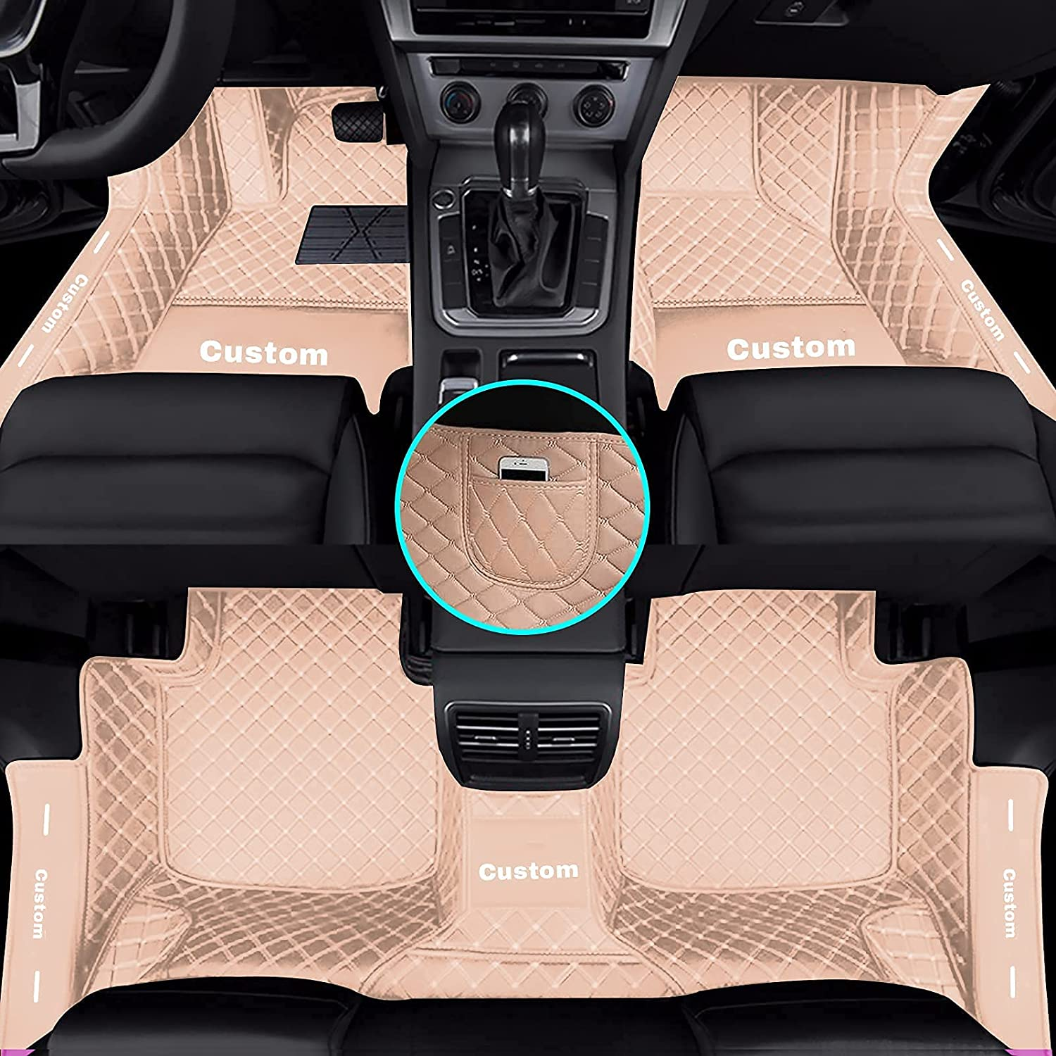 Yajomi Limited time for free shipping Custom Diamond Car Floor Mats Po for Fit Don't miss the campaign Door Sills Cover