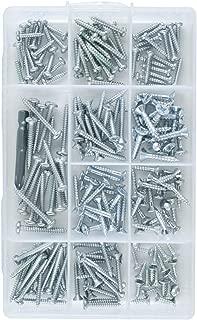 Bonus  Window Wood Doors, Wall, Sheet Screws Assortment Kit M3 M4 M5 M6 Self Tapping Pan & Flat Screw Head   Stainless,TV Furniture Hanger Steel Metal Set   Phillips Drill Bit