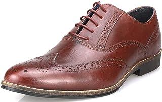 efcf12884ca0fd Red Tape - Chaussures à lacets habillés en cuir pour homme -  Fauve