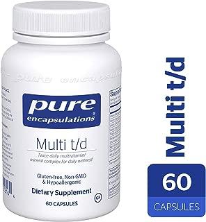 Pure Encapsulations - Multi T/D - Hypoallergenic Multivitamin/Mineral Formula Providing a Concentrated Core of Nutrient Essentials - 60 Capsules