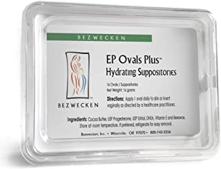 Bezwecken - E.P. Ovals Plus DHEA - 16 Oval Suppositories - Same Trusted Formula, New Improved Shape - Professionally Formulated to Alleviate Vaginal Dryness in Menopausal Women
