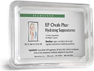 Bezwecken – E.P. Ovals Plus DHEA – 16 Oval Suppositories – Same Trusted Formula, New Improved Shape – Professionally Formulated to Alleviate Vaginal Dryness in Menopausal Women
