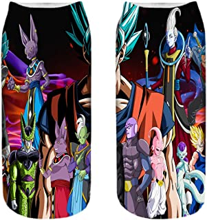 Nologo, Dragon Ball Calcetines Unisex Baja del Tobillo Calcetines Deportivos Calcetines Funky Completa Imprimir Barco Calcetines Casual 3D Impresos Calcetines Deportivos