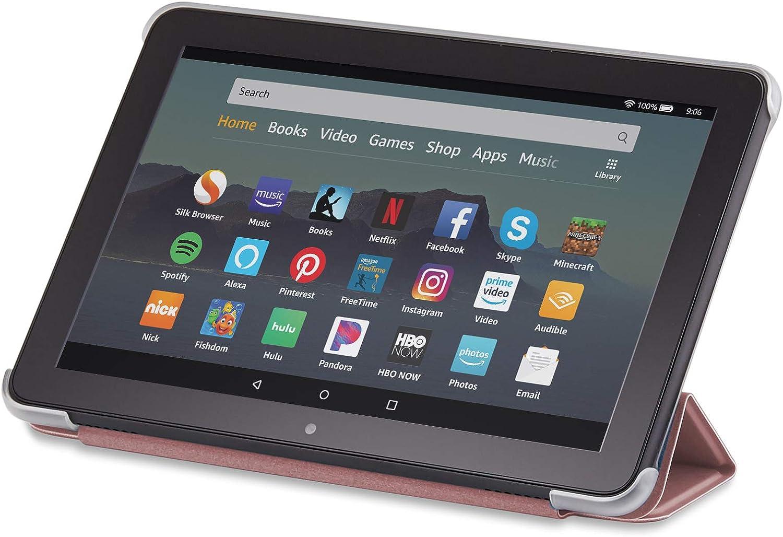 Nupro Tri-fold Standing Case for Fire HD 8 Tablet Black 10th Gen, 2020 Release