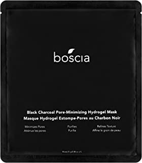 Boscia Black Charcoal Pore-Minimizing Hydrogel Mask - Vegan, Cruelty-Free, Natural and Clean Skincare | Facial Mask for Minimizing Pores and Refining Skin Complexion, 0.88 oz.