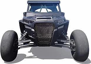 50 Caliber Racing Custom Built CNC Billet Aluminum Grill - Powdercoated Black - Fits 2017-2018 Polaris RZR XP Turbo 2 & 4 Seat Models [5358A1]
