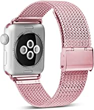 OROBAY Compatible with iWatch Band 38mm 42mm 40mm 44mm, Stainless Steel Milanese Loop Magnetic Band Compatible with Apple Watch Series 4 Series 3 Series 2 Series 1, Rose Gold 40mm 38mm