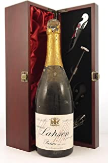 Lanson Vintage Champagne 1943 (1cm inverted ullage) in a silk lined wooden box with four wine accessories, 1 x 750ml