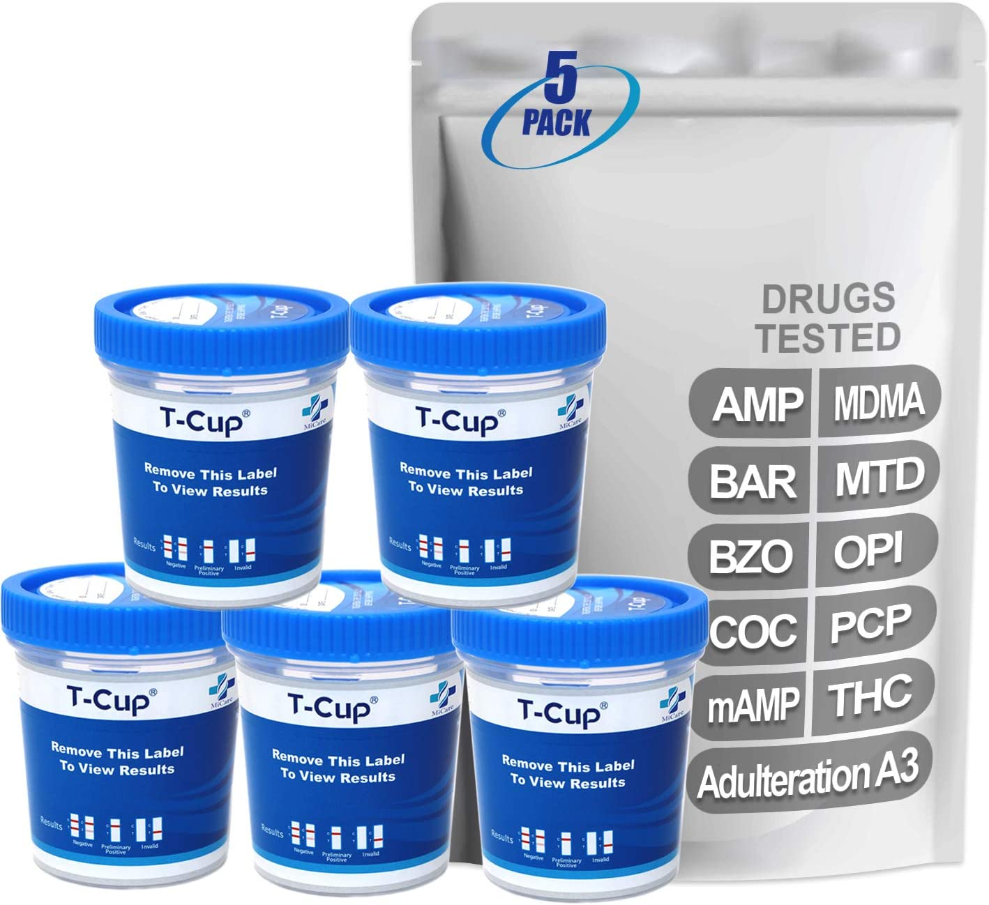 Ranking TOP3 MiCare 5pk - 10-Panel Multi Test Cup mAMP MDM AMP COC Louisville-Jefferson County Mall BZO BAR
