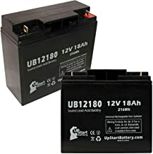 2 Pack Replacement for UB12180 Universal Sealed Lead Acid Battery Replacement for para Systems Minuteman PRO 1400 (12V, 18Ah, 18000mAh, T4 Terminal, AGM, SLA)