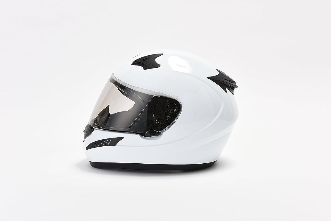 引数豊富にとは異なりcommencer バイクヘルメット フルフェイス SG/PSC (L, ホワイト)