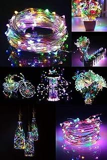 Pilli Renkli Peri Led Işık Saçak 10 Metre Dekoratif Aydınlatma (RGB)