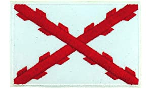 Accesorios Aspa de Borgoña o Cruz de San Andrés: Gemelos de camisa, Pin de Solapa, Parche bordado para la ropa, Imán