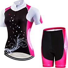 Women's Cycling Jersey Set Bike Shirt Tops Shorts Suit - Comfortable,Breathable and Quick Dry
