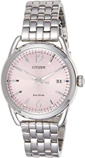 Citizen Women's Pink Dial Stainless Steel Band Watch - FE6080-71X