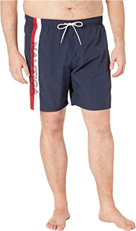 0d7878bcb4 Nautica Big & Tall Big & Tall Anchor Swim Trunk at Zappos.com