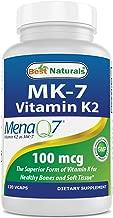 Best Naturals MK-7 Vitamin K2 100 mcg 120 Vcaps