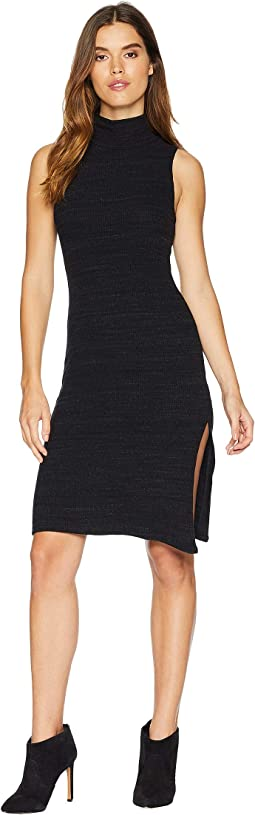 Sleeveless Slub Sweater Dress