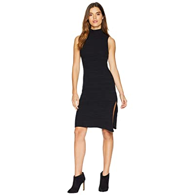 LNA Sleeveless Slub Sweater Dress (Heather Black) Women