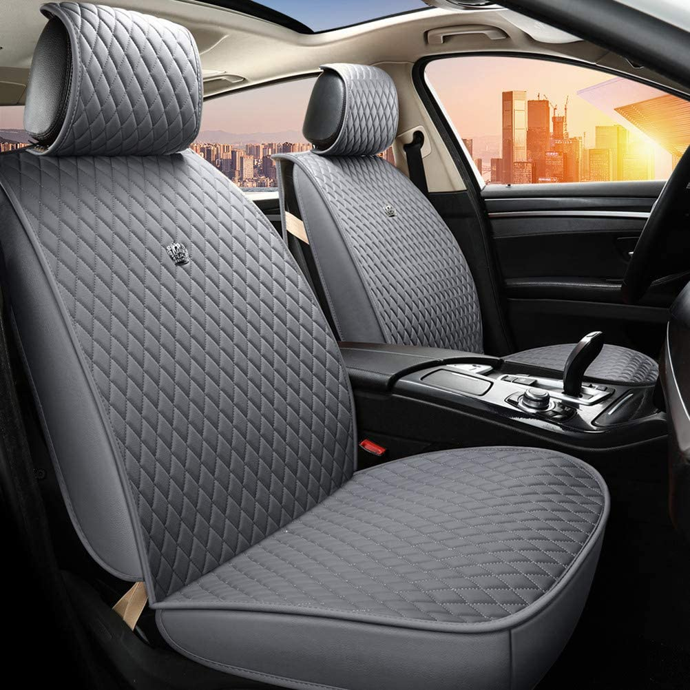 New color Gray Auto Seat Covers Universal Front SALENEW very popular! Cove Rear and Leather
