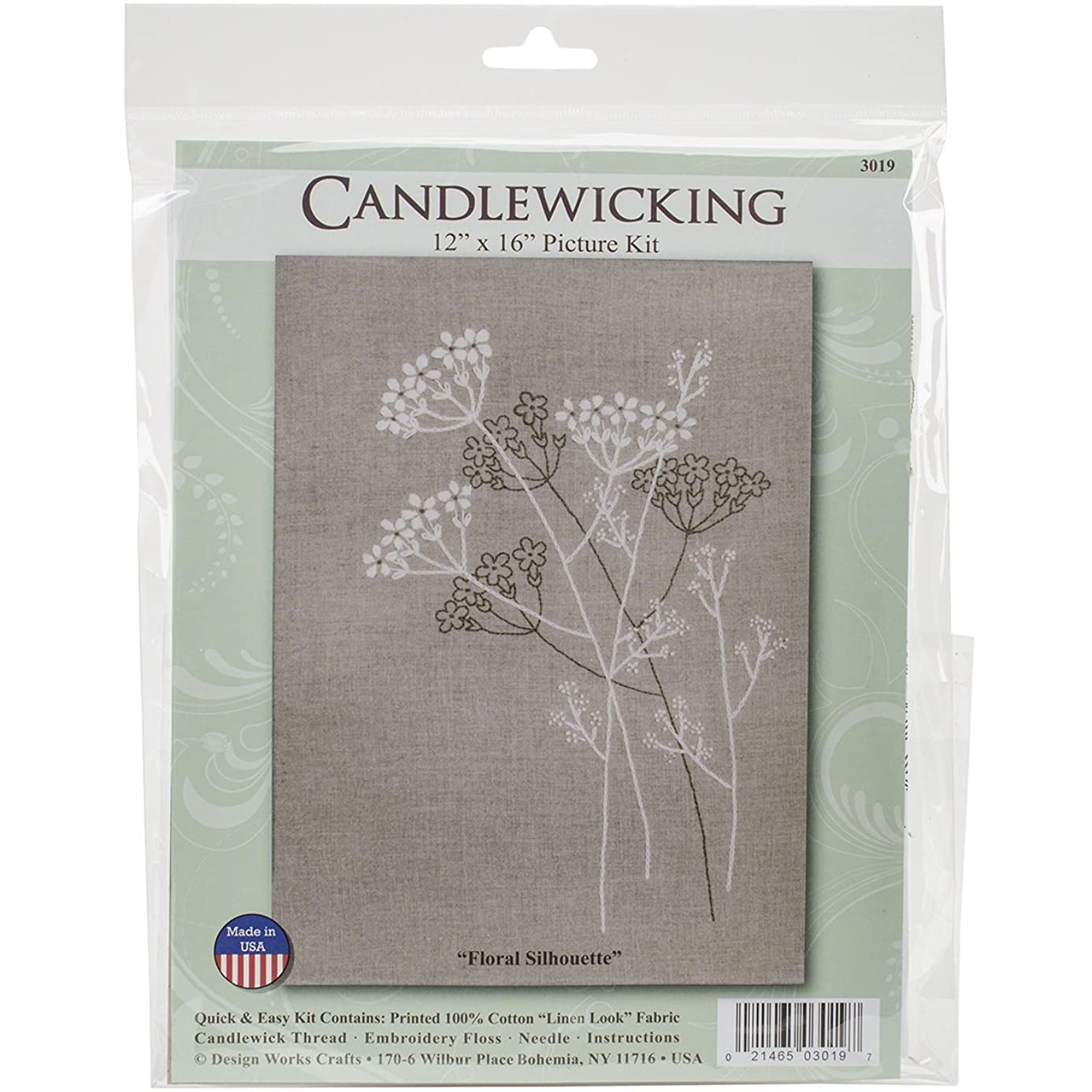 Design Works Crafts Queen Anne's Lace Candlewick Kit, 12 by 16 ilm1279657