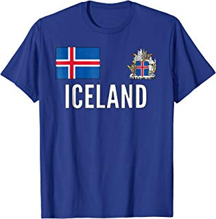 Iceland Soccer Football Jersey Fan support Team Island