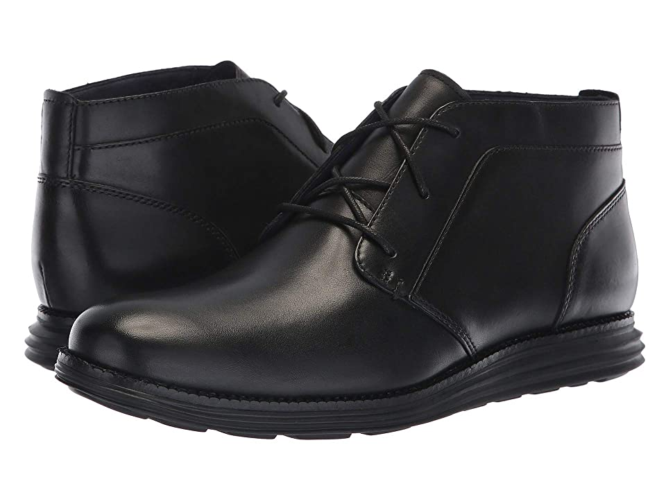Cole Haan Original Grand Chukka (Black Leather/Black) Men