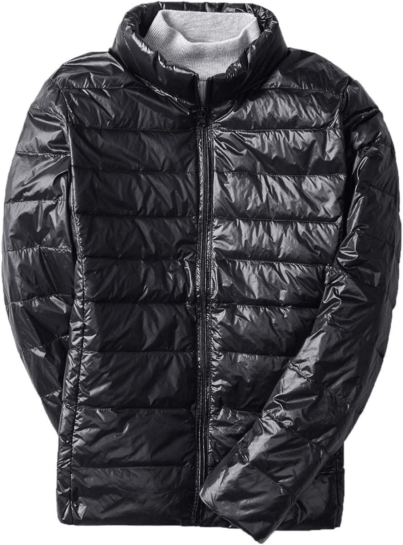 WSLCN Women Down Jacket Lightweight Duck Down Quilted Stand Collar Puffer Jacket