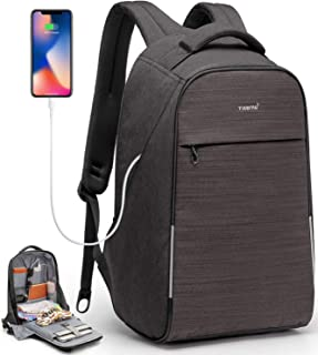 KUPRINE Anti Theft Travel Laptop Backpack Business Scan Smart Backpack with USB Charging Port, 15.6 Inch Water Resistant College School Computer Bag for Women Men